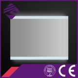 Jnh144 Saso Rectangle Argent Bathroom Sensor Mirror avec lumière LED