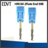 Edvt CNC 60HRC 2flute 텅스텐 강철 끝 선반 절단 도구