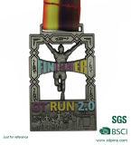 工場供給のマラソン(w-123)のための連続したスポーツのエナメルのフィニッシャーメダル