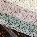 ткань шнурка картины цветка 100%Nylon для платья