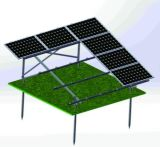 Гальванизированные стальные линии солнечная система ландшафта 4 установки