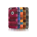 Simplement couverture de téléphone de cuir de chiquenaude de modèle pour l'iPhone 7