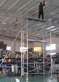 Andaime dobro da largura com o fabricante Shanghai China da caixa da escada