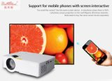 Bluetooth completo elegante WiFi del soporte del proyector del teléfono de los juegos video HD LED del teatro casero