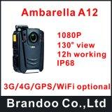 Видеокамера полиций Ambarella A12 1080P несенная телом с кнопкой одежд