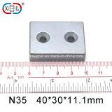 Zwei Schrauben-Loch-Block-Magnet