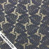Tela elegante do laço da folha do projeto novo para o vestuário
