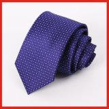 Cravate 100% pour hommes en polyester tissé en microfibre