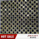 Goldschwarze Glasmosaik-Fliese, Vorhalle-Dekoration-Mosaik