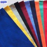 綿10*10 80*46のWorkwear PPEのための320GSMによって染められるあや織りの綿織物
