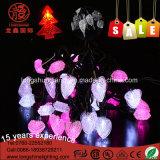Stringa bianca dell'indicatore luminoso leggiadramente di figura del cuore del LED per la decorazione di cerimonia nuziale