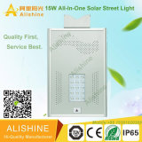 Le lumen élevé Bridgelux IP67 imperméabilisent la lumière solaire 15W de jardin de rue de DEL