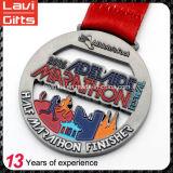 リボンが付いている昇進によってカスタマイズされるスポーツメダル