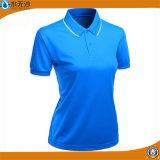 工場卸し売り女性のポロシャツの悪感情の綿ワイシャツ