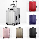2017 nuevos equipaje y maleta de aluminio con 6 colores para elegir