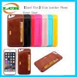 カードスロットのiPhone7/6s/6のための細い革電話裏表紙のケース