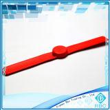 ID/IC 추적을%s 주문 RFID 가볍게 침 팔찌 철석 때림 또는 박수 실리콘 지능적인 소맷동