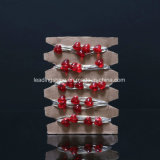 50 LEDs Firefly Micro Cordas de luzes Forma de coração para peça de festa de casamento Decoração de Natal