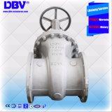 Soupape à vanne posée molle de main de Dbv de roue de bride industrielle de Wcb