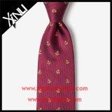 Rojo tejido telar jacquar el 100% de seda hecho a mano del lazo del Mens para los hombres