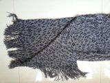 Sciarpa acrilica della stampa del leopardo con la pelliccia della nappa per gli scialli degli accessori di modo della ragazza