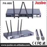 Fk800デュアルチャネルUHFデジタルの無線マイクロフォン
