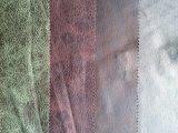 Tela del sofá del poliester con la PU que mira la tela de Microfiber (K032)
