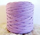 Hilados de polyester púrpuras del hilado del ganchillo del hilado de la camiseta en China