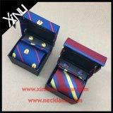Jogo de seda tecido Mens do quadrado da gravata e do bolso da forma elevada