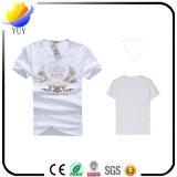 Les hommes amincissent le T-shirt de chemise de circuit de coton estampé par collet rond en bonne santé