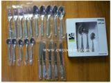 vaisselle plate réglée de vaisselle de couverts de polonais de miroir de l'acier inoxydable 24PCS (CW-C1004-24)