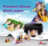 Papel brillante microporoso impermeable de la foto de 260GSM RC para el papel de la foto de la impresión de Digitaces