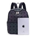 Светящий мешок Backpack застежки -молнии PU ромбический геометрический (A079)