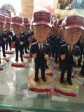 Donald Trump personalizado Bobble Polyresin principal Bobblehead Bobble a boneca das cabeças