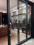 Раздвижная дверь Tempered стекла двойника верхнего качества Woodwin алюминиевая для балкона