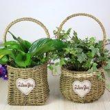 (BC-SF1018)環境に優しいハンドメイドの自然なわらの花のバスケット