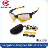Occhiali da sole impermeabili gialli Anti-Shock neri pieni chiari eccellenti popolari della bici di Revo