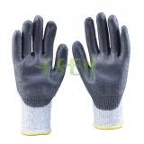 Перчатка безопасности перчатки Гэри покрынная нитрилом работая с Ce (D78-G5)