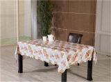Tablecloth impresso colorido do PVC do plástico não tecido barato do revestimento protetor de tela (TJ0356)