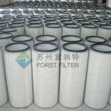 Cartouche de filtre à air à turbine à gaz cylindrique et thermique