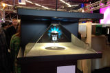 Caixa holográfica do holograma do Showcase da pirâmide do indicador 3D