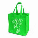 Bolso de compras verde reutilizable cómodo de Eco (LJ-138)