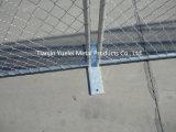 검술하는 전기판에 의하여 직류 전기를 통하는 철 철사 메시 체인 연결 담 또는 전기판에 의하여 직류 전기를 통하는 철 철사 메시 가축 또는 용접된 철 철사 방호벽