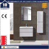 Gabinete de banheiro branco moderno do MDF da laca 2016 para o europeu