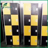 Schwarz und 4 Reihe-phenoplastische Auflage-Verschluss-Gymnastik-Schließfach-Kleidungs-Schließfächer gelb färben
