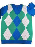 Suéter hecho punto de moda de Intarsia del diseño de bloqueo del color de las señoras