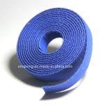 Nylonmaterial zurück zu rückseitigem Haken-und Schleifen-Flausch-Kabelbinder