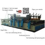 Pequeña máquina de papel de tejido de tocador del rodillo maxi automático el rebobinar