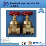 Dn15 - Tipo de levantamiento de cobre amarillo válvula del vástago Dn40 de puerta del borde