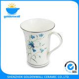 Caneca de café fina branca de China de osso 300ml para o restaurante